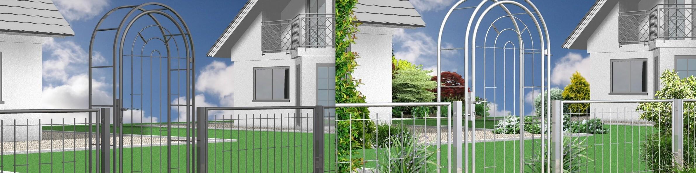 Moderne Tore und Zäune